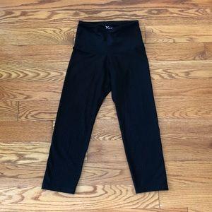 Old Navy Fit Black Polka-dotted Crop Leggings